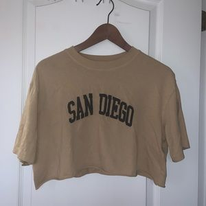 San Diego Cropped top from TOPSHOP